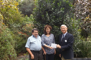Wal Farqur Legacy Australia accepting a cheque for $2280 after the Open Garden 2015